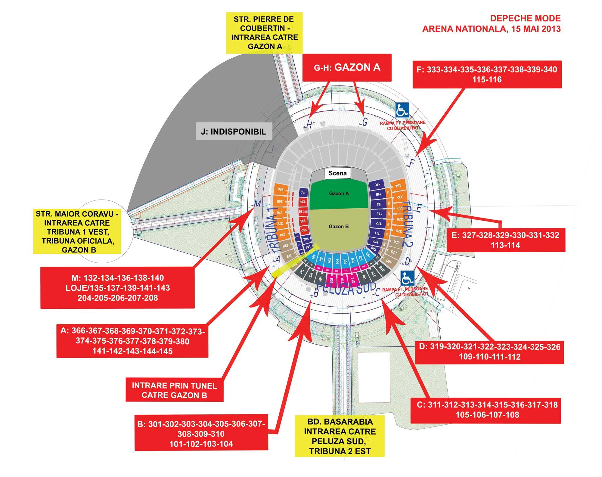Concert Depeche Mode Pe Arena Nationala May 2013