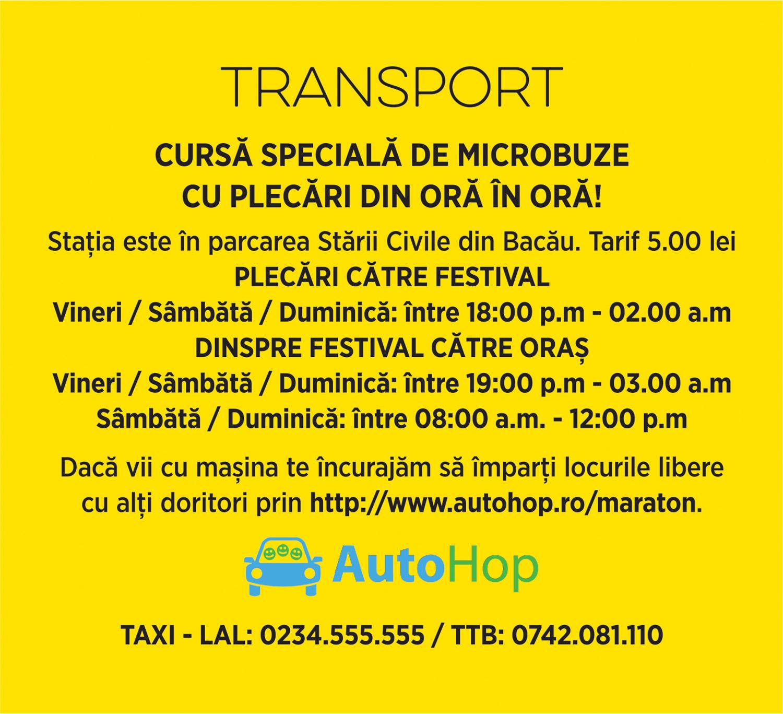 maraton festival transport